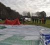 Aufbau des Ballons in Oyten