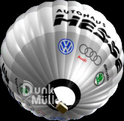 Ballon Werbung erzielt ungeteilte Aufmerksamkeit