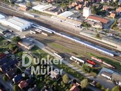 Ballonflug über Bremervörde Bahnhof
