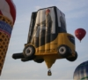 Gabelstapler Heißluftballon